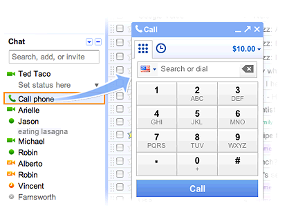 Gmail Voice Call